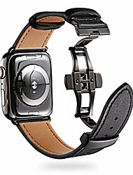 cheap -Smart Watch Band for Apple iWatch 1 pcs Classic Buckle Genuine Leather Replacement  Wrist Strap for Apple Watch Series SE / 6/5/4/3/2/1 38mm 40mm 42mm 44mm