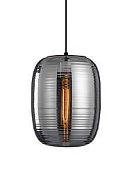 cheap -1-Light 25 cm Pendant Light Glass Glass Cylinder Electroplated Modern 110-120V / 220-240V