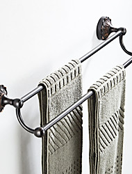 cheap -Black Embossed Chassis  Towel Bar New Design Country / Antique Brass 1pc - Bathroom / Hotel bath Double / 2-tower bar Wall Mounted