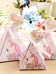 Недорогие -Taper Shape Розовая бумага Фавор держатель с Ленты Коробка для хранения / Подарочные коробки / Пакеты для печенья - 50 ед.