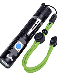 Недорогие -Supfire A3 Аварийные лампы Наборы фонариков Светодиодные лампы 1100 lm Светодиодная лампа Cree® XM-L2 U2 1 излучатели 5 Режим освещения с батареей и USB кабелем / Алюминиевый сплав / IP67