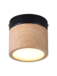 cheap -LED 5W Flush Mount Lights/ Mini LED Ceiling lights Ambient Light Wood Wood / Bamboo 220V / 110V Warm White / White/ Bulb Included