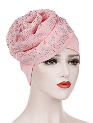 cheap -Women's Basic Polyester Floppy Hat-Solid Colored All Seasons Blushing Pink Yellow Fuchsia