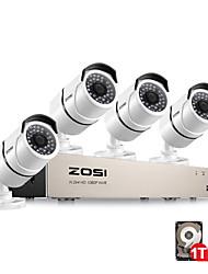 Недорогие -zosi 8ch PoE NVR 1080p IP-видео PoE Network запись видео IR-Cut системы видеонаблюдения на открытом воздухе системы видеонаблюдения домашнего видеонаблюдения NVR с предварительно вставленным жестким