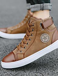 cheap -Men's Comfort Shoes Synthetics Spring & Summer / Fall & Winter Casual / British Sneakers Black / Blue / Khaki / Rivet / Outdoor