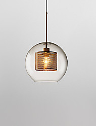 cheap -1-Light 20 cm Pendant Light Glass Glass Lantern Electroplated Globe Modern 110-120V 220-240V