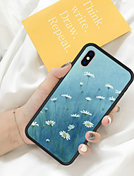 cheap -Case For iPhone X XS Max XR XS Back Case Soft Cover TPU Fresh Illustration Style White Daisy Soft TPU for iPhone5 5s SE 6 6P 6S SP 7 7P 8 8P