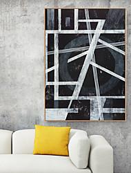 Недорогие -Отпечаток в раме Холст в раме С принтом - Абстракция Полистирен Масляные картины Предметы искусства