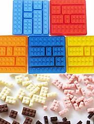 abordables -1pc Le gel de silice 3D La glace Chocolat Glace Pour Gâteau Briques de jouet Ustensiles de Cuisine & Pâtisserie Outils de cuisson