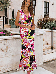 cheap -Women's Sophisticated Elegant Sheath Dress - Geometric Black L XL XXL