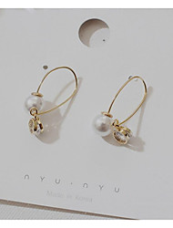 cheap -Women's Pearl Drop Earrings Classic Joy Stylish Gold Plated Earrings Jewelry Gold For Party Daily 1 Pair