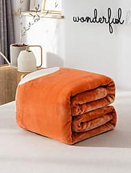 Недорогие -Одеяла / Диван Бросай / Многофункциональные одеяла, Однотонный / Цветочный принт / Простой Фланель Флис Обогреватель Мягкость удобный одеяла