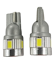 cheap -2PCS Top Position Focus Lighting W5W LED Bulb 450LM Car T10 License Plate Light White Color