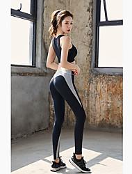 abordables -Femme Pantalon de yoga Couleur unie Spandex Course / Running Fitness Entraînement de gym Collants Bas Tenues de Sport Doux Butt Lift Contrôle du Ventre Power Flex Haute élasticité Slim
