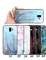 cheap -Case For Samsung Galaxy J6 Plus / J4 Plus / J3 Pro Pattern Back Cover Marble Hard Tempered Glass