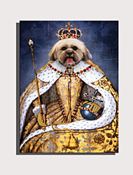 cheap -E-HOME Stretched Canvas Art Cute Animal Series - Dogs in Yellow Coat Decoration Painting  One Pcs