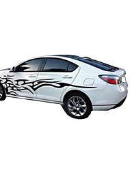 cheap -3D Flame Totem Decals Car Stickers Full Body Car Styling Vinyl Decal Sticker for Cars Decoration
