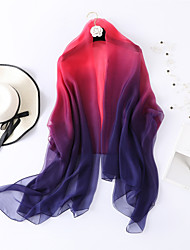cheap -Sleeveless Shawls / Scarves Chiffon / Tulle Wedding / Party / Evening Women's Wrap / Women's Scarves With Color Block