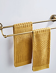 cheap -Towel Bar New Design Antique / Country Brass 1pc - Bathroom / Hotel bath Double / 2-tower bar Wall Mounted