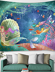 cheap -Beach Theme / Fairytale Theme Wall Decor 100% Polyester Modern Wall Art, Wall Tapestries Decoration