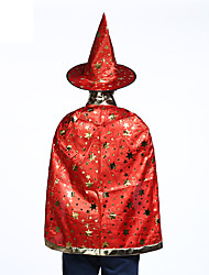 cheap -Vampire Hat Cloak Masquerade Kid's Adults' Men's Cosplay Halloween Christmas Halloween Carnival Festival / Holiday Fabric Orange / Red / Purple Carnival Costumes Stars