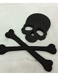 cheap -Universal Black Skull Punisher Car Styling Emblem Decal Badge Sticker