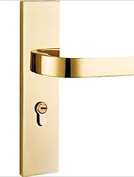 cheap -Bedroom solid wood door locks Nordic indoor simple PVD gold mute American mechanical door lock