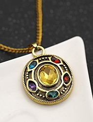 cheap -Men's Women's Synthetic Amethyst Necklace Chrome Gold 45+5 cm Necklace Jewelry 1pc For Daily