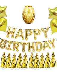cheap -Holiday Decorations Holidays & Greeting Birthday Novelty Gold / Pink 1pc