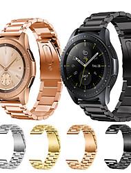 abordables -Bracelet de Montre  pour Samsung Galaxy Watch 46 / Samsung Galaxy Watch 42 Samsung Galaxy Boucle Classique Acier Inoxydable Sangle de Poignet