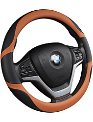 cheap -Steering Wheel Covers Genuine Leather / Leather / leatherette 38cm Black / Blue / Black / Red / Black / Orange For universal General Motors All years