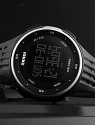 Недорогие -SKMEI Муж. электронные часы Цифровой Pезина Черный / Красный 30 m Защита от влаги Календарь Секундомер Цифровой На открытом воздухе Мода - Красный Зеленый Синий Два года Срок службы батареи