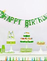 cheap -Holiday Decorations Holidays & Greeting Pull Flag Party Green 2pcs