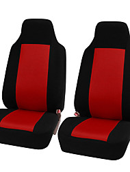 cheap -2pcs Black and Red Universal Car Front Seat Cushion Unique Breathable Cloth Seat Cover Pad