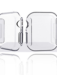 cheap -For Apple Watch Series 4 TPU Slim Clear Case Screen Protector Full Cover