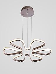 cheap -1-Light 6-petal flower-shaped exterior chrome chandelier for living room/dining
