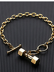 cheap -Men's Chain Bracelet Handmade Link Bracelet Pendant Bracelet Thick Chain Precious Statement Unique Design Trendy Rock Gothic Titanium Steel Bracelet Jewelry Gold / Silver For Party Gift Daily