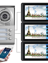 cheap -618MC13 7 inch capacitive touch screen video camera wired video doorbell wifi / 3G / 4G remote call unlock storage visual intercom three-bedroom