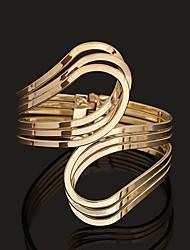 abordables -Bracelet Jonc Manchettes Bracelets Femme Incompatibilité Amour Rétro Vintage énorme Bracelet Bijoux Dorée Argent Circulaire pour Soirée Quotidien Vacances