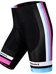 cheap -WOSAWE Women's Cycling Padded Shorts Spandex Polyester Bike Shorts Padded Shorts / Chamois Pants Windproof Breathable 3D Pad Sports Stripes Black Mountain Bike MTB Road Bike Cycling Clothing Apparel