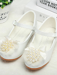 cheap -Girls' Flower Girl Shoes / Tiny Heels for Teens PU Heels Flower White / Pink Spring / Fall / Party & Evening / Rubber