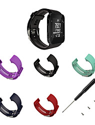 cheap -1 PCS Watch Band for Garmin Sport Band Classic Buckle Silicone Wrist Strap for Forerunner 35