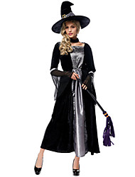 cheap -Witch Movie / TV Theme Costumes Uniforms Dress Cosplay Costume Masquerade Adults' Women's Dresses Halloween Christmas Halloween Carnival Festival / Holiday Tulle Plush Fabric Black Carnival Costumes