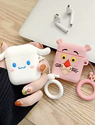cheap -AirPods Case RingHolder Shockproof Cartoon Protective Cover  Soft Silicone Portable TPU Compatible with Apple AirPods 2 & 1(AirPods Charging Case not included)