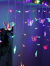 cheap -1.5m Butterfly String Lights Cute 48 LEDs Multi Color Decorative 220-240 V 1 set