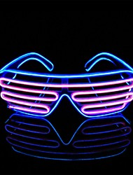 cheap -Two Colors EL Flash Glasses Staycation Party DJ Luminous Fluorescent Show Bar Party Gift