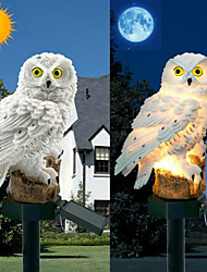 cheap -Owl Solar Light With Solar LED Panel Fake Owl Waterproof Solar Garden Lights Owl Ornament Animal Bird Outdoor Yard Garden Lamps