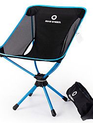 cheap -BEAR SYMBOL Fishing Chairs Camping Chair Portable Rain Waterproof Ultra Light (UL) Breathability Oxford Cloth 7075 Aluminium Mesh for 1 person Fishing Hiking Camping BBQ Autumn / Fall Spring Blue