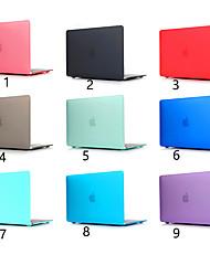Недорогие -Скраб сплошной цвет для MacBook Pro Air 11-15 компьютерный корпус 2018 2017 года выпуска A1989 / A1706 / A1708 с сенсорной полосой ПВХ твердой оболочки