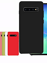 cheap -Case For Samsung Galaxy Galaxy S10 / Galaxy S10 Plus Shockproof Back Silky Silicone Case High Quality Soft For Galaxy S10 / Galaxy S10 Plus / Galaxy S10 E